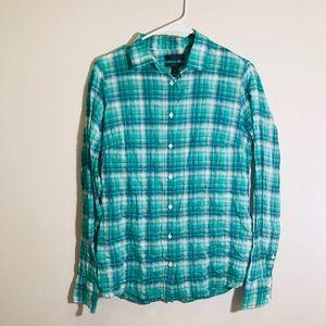 J. Crew Perfect Plaid Shirt Women's Size 2